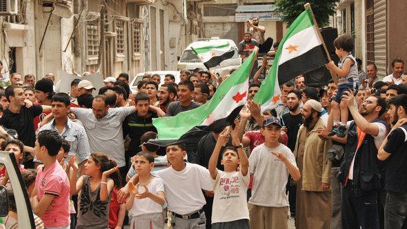 مظاهرات سلمية ضد النظام، د أ ب د