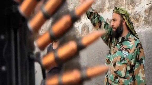 عنصر جهادي في سوريا، أ ب