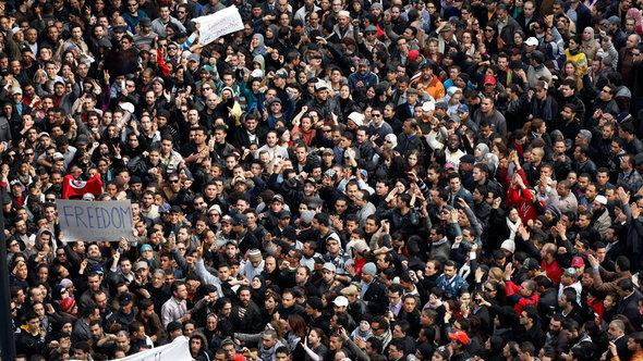 احتجاجات ضد الرئيس التونسي الأسبق بن علي عام 2011، أب