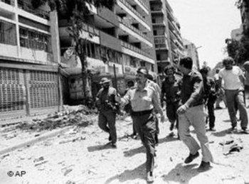 الرئيس السابق لمنظمة التحرير الفلسطينية في بيروت، 1982. أ ب