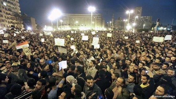 احتجاجات ميدان التحرير 2010. د ب أ