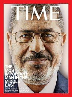 Cover of Times Magazine with a portrait photography of of Mohamed Morsi (source: Time Magazine)