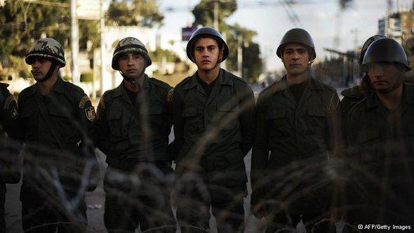بعض عناصر الجيش المصري. أ ف ب