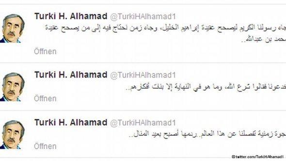 تغريدات تركي الحمد على تويتر التي اعتقل بسببها