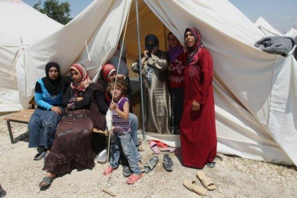 في أحد مخيمات اللاجئين في محافظة هاتاي التركية.د أ ب د