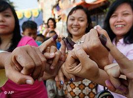 انتخابات عام 2009 في إندونيسيا. أ ب