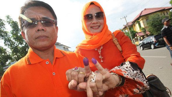 انتخابات إندونيسيا 2012. د ب أ