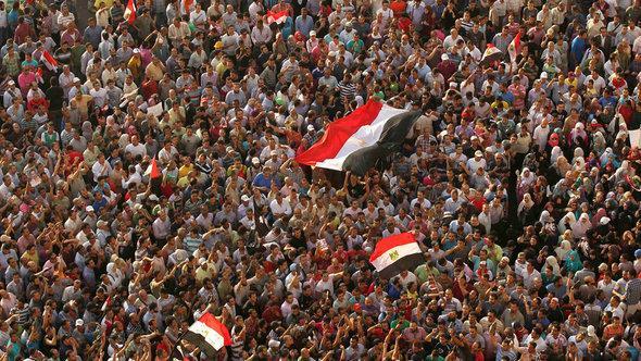 مظاهرات ضد مبارك في القاهرة. رويترز