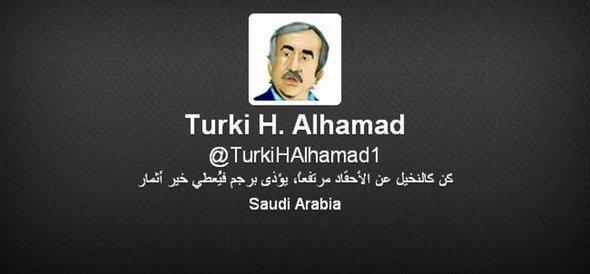 صورة تركي الحمد في حسابه الشخصي على تويتر