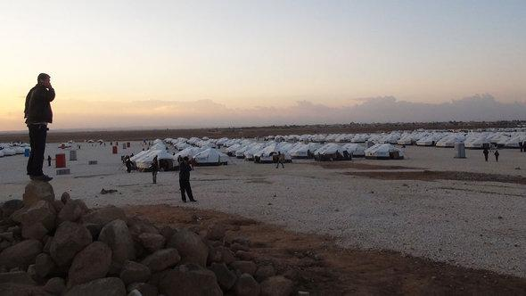 مخيم الزعتري للاجئين السوريين في الأردن. دويتشه فيله