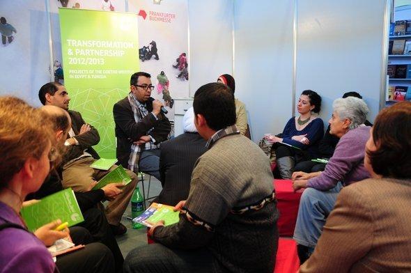 شريف بكر في معرض القاهرة الدولي للكتاب. دويتشه فيله