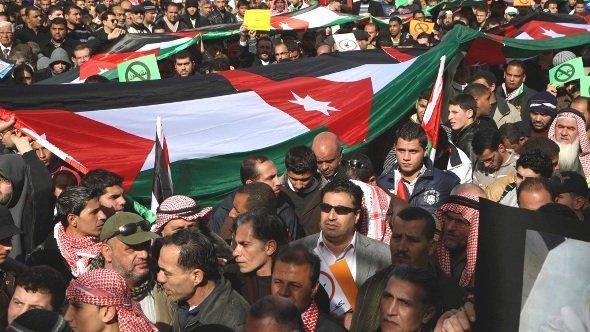 احتجاجات جبهة العمل الإسلامي في الأردن. عَمَّان 2013. رويترز
