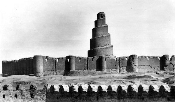 Ruinen der Großen Moschee in Samarra, Fotografie von Ernst Herzfeld; © Museum für Islamische Kunst, Staatliche Museen zu Berlin