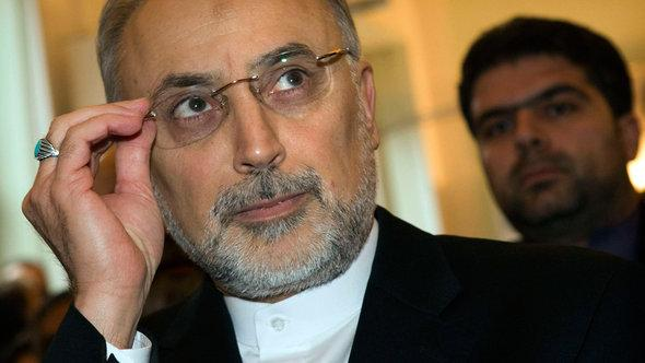 Iran's Foreign Minister Ali Akbar Salehi delivers a speech at the German Council on Foreign Relations in Berlin 4 February 2013 (photo: Reuters/Thomas Peter)