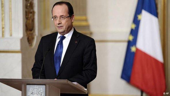 الرئيس الفرنسي: فرنسوا أولاند. أ ب