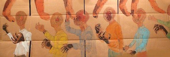 من أعمال الرسام المصري علي عبد المحسن