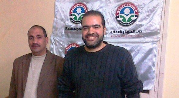 Ahmed Abdel Futuh (right) and Ahmed Ridan (left) from the Egyptian FJP (photo: Markus Symank)