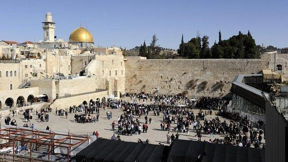The Western Wall and the Dome of the Rock in Jerusalem (photo: Jens-Ulrich Koch/dapd)