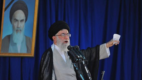 آية الله علي خامنئي، المرشد الأعلى لإيران. د ب أ