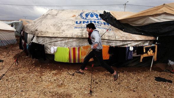 مخيم الزعتري للاجئين السوريين في الأردن. أ ب