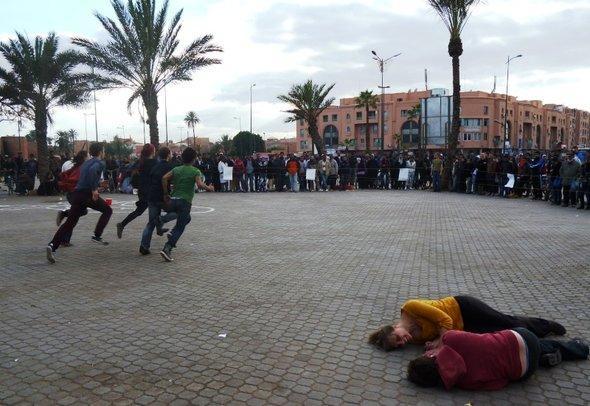 """مهرجان """"نمشي"""" للرقص المعاصر في مدينة مراكش المغربية. أستريد كامنسكي"""