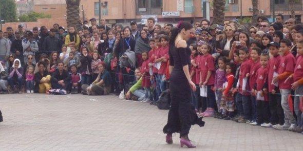 Dancer at the dance festival On Marche in Marrakesh (photo: Astrid Kaminski)
