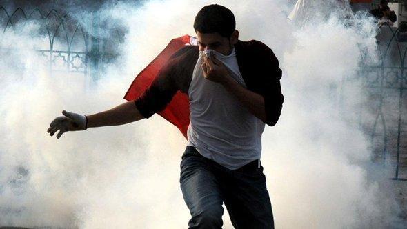 مظاهرة احتجاجية للشيعة ومواجهات مع الأمن البحريني في المنامة. د ب أ