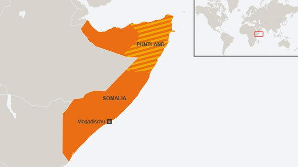 Map of Somalia (source: DW)