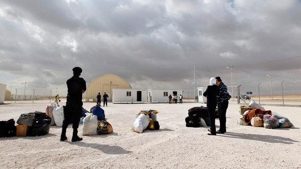 مخيم للاجئين السوريين في الأردن. رويترز