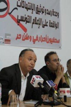 محمود الذوادي رئيس مركز تونس لحرية الصحافة. حقوق الصورة: محمد بن رجب