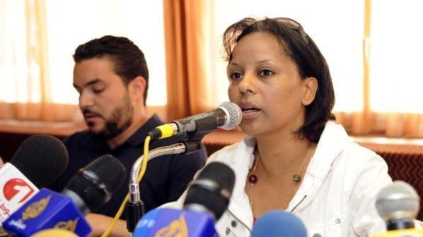 نجيبة الحمروني نقيبة الصحافيين التونسيين. حقوق الصورة: محمد بن رجب