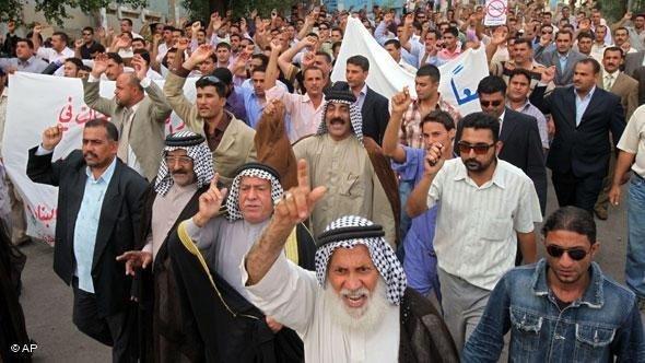 احتجاجات السُّنة في العراق. أ ب