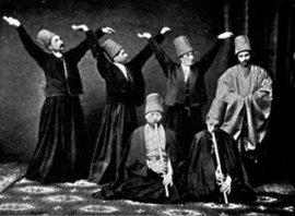 Mevlevi dervishes in 1887 (photo: Wikipedia)