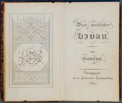 Ausgabe des West-östlichen Divans von Johann von Goethe; Foto: wikimedia