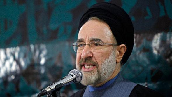 صورة المرشد الأعلى علي خامنئي تحضر دائما في السياسة الخارجية لإيران ، الصورة خامئني ايه ر