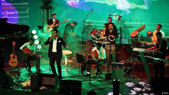 Band performing live in Iran (Photo: IRNA)