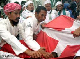 احتجاجات في إندونيسيا على الرسوم المسيئة لنبي الإسلام