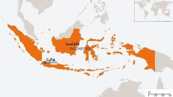 خريطة إندونيسيا. DW