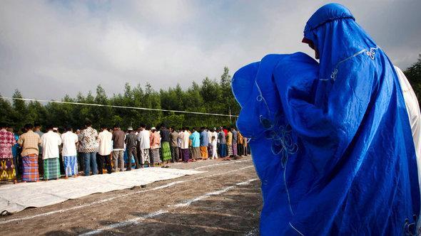 مسلمون في إندونيسيا أثناء عيد الأضحى. غيتي إميجيس