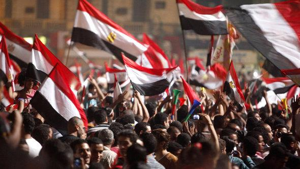 Jubilation on Tahrir Square after the announcement that President Morsi had been removed from office (photo: Reuters)