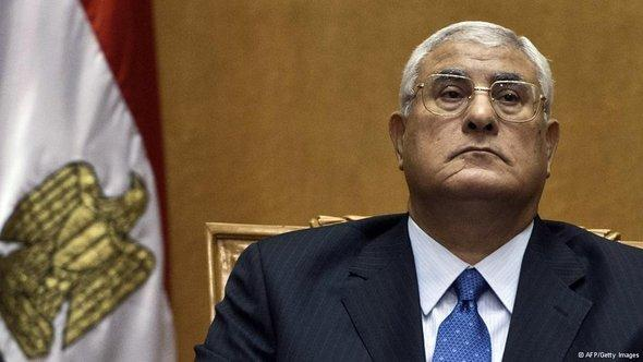 الرئيس الانتقالي عدلي منصور.  أ ف ب  غيتي إميجيس