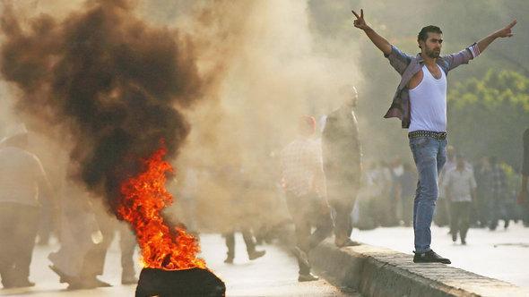 جانب من احتجاجات مؤيدة للرئيس المعزول محمد مرسي. غيتي إميجيس