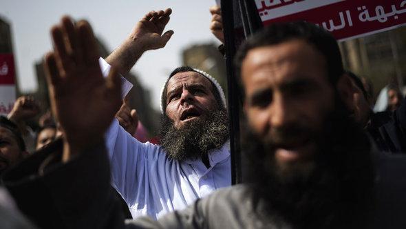 سلفيون في مظاهرات احتجاجية في القاهرة. أ ف ب  غيتي إميجبس