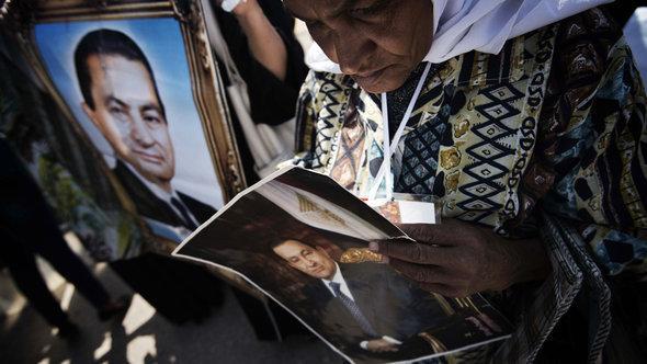 أنصار لمبارك في القاهرة. أ ف ب  غيتي إميجيس