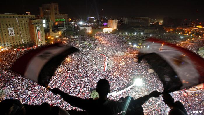 من مظاهرات ميدان التحرير.