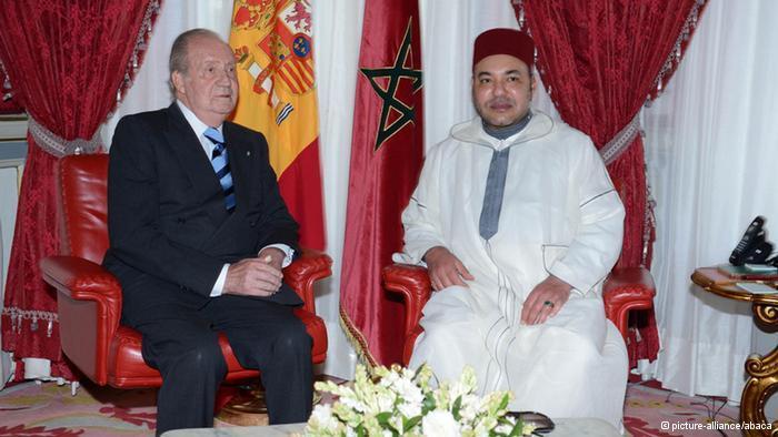 الملك الإسباني خوان كارلوس في المغرب مع الملك محمد السادس