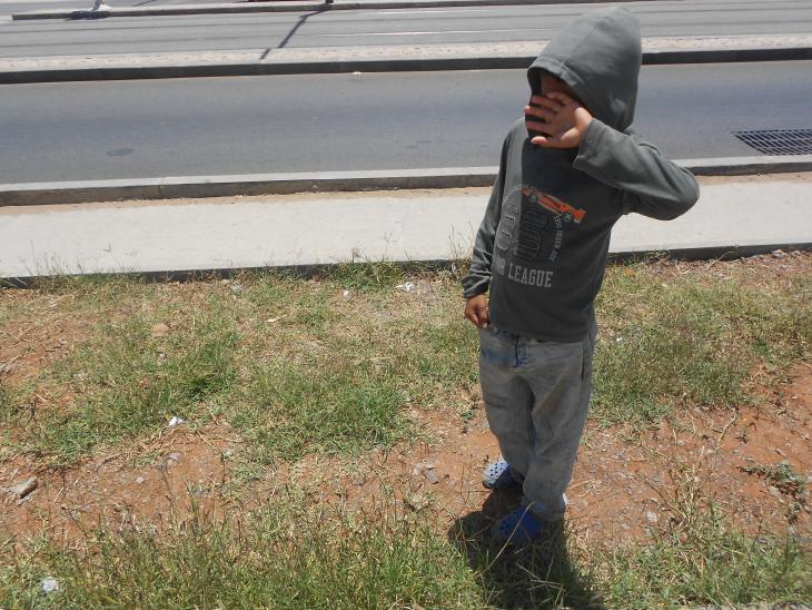 أحد الأطفال المشردين في شوارع الرباط. حقوق الصورة سهام أشطو