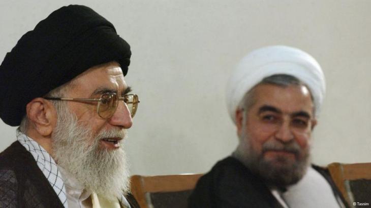 آية الله علي خامنئي والرئيس حسن روحاني