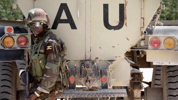 جندي من قوات أميسوم شمال مقديشو. د ب أ