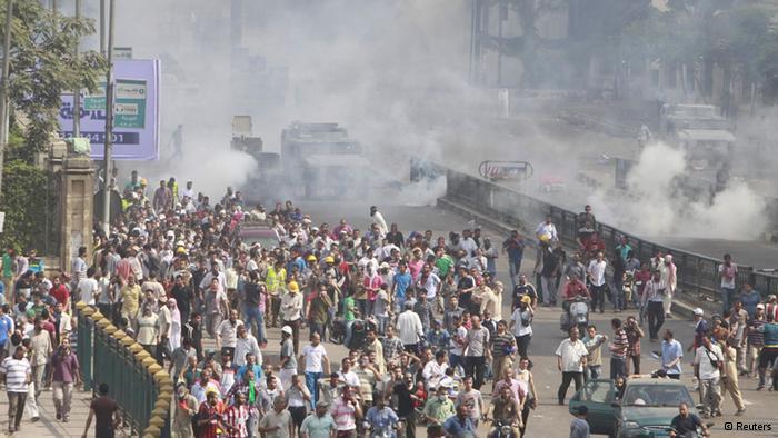 فض السلطات المصرية لاعتصامات مؤيدي مرسي